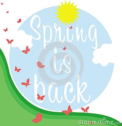Spring is back banner