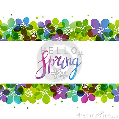 Free Spring Background With Vibrant Flowers Royalty Free Stock Photos - 110307238