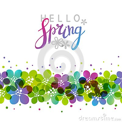 Free Spring Background With Vibrant Flowers Royalty Free Stock Photo - 110307315