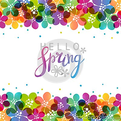 Free Spring Background With Vibrant Flowers Stock Photos - 110307323
