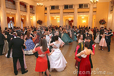 Spring ball Moscow Nobility Assembly Editorial Stock Photo