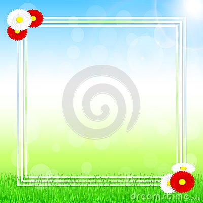 Spring banner design. Vector Illustration
