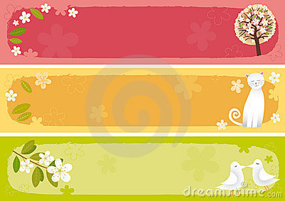 Spring banners horizontal