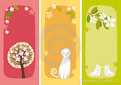 Spring banners vertical