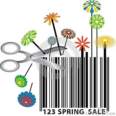 Spring barcode