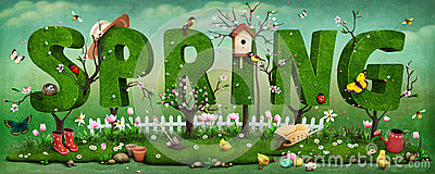 Spring Cartoon Illustration