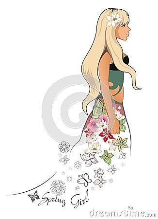 Spring blonde girl