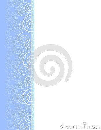 Spring Blue Swirls Spirals Border