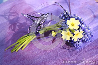 Spring bouquet in lilac