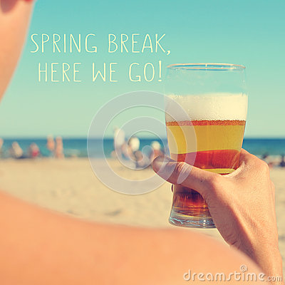 Free Spring Break, Here We Go Stock Images - 50798494