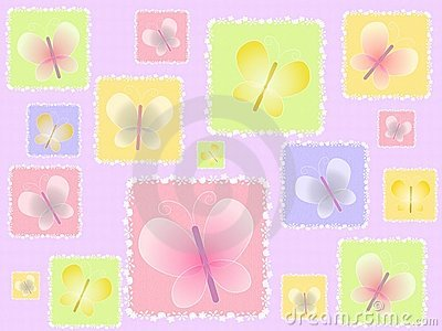 Spring Butterflies Light Background