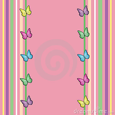 Spring Butterfly Background