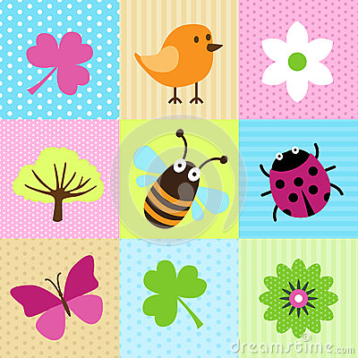 Free Spring Cartoons Royalty Free Stock Image - 28751166