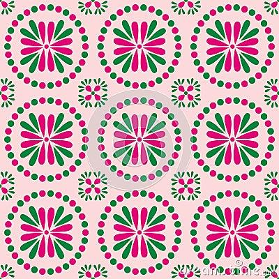 Spring Circle Pattern