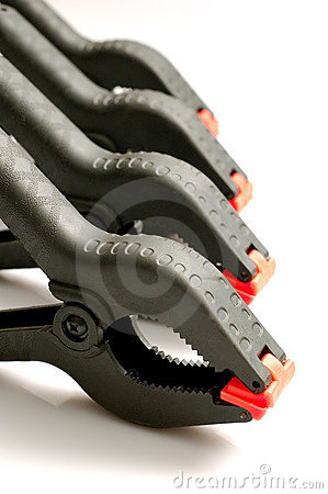 Free Spring Clamps Royalty Free Stock Photos - 1900958