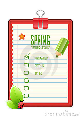 Free Spring Cleaning Checklist Stock Image - 23913731