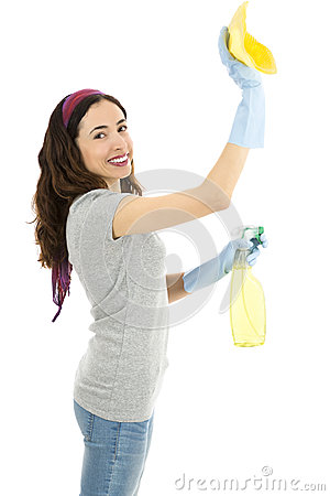 Free Spring Cleaning Lady Royalty Free Stock Image - 52683966