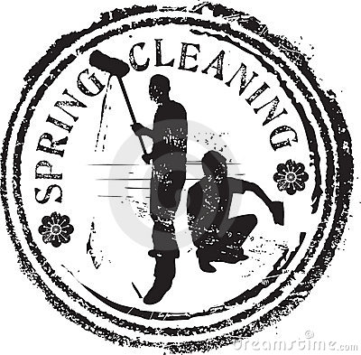 Spring cleaning stamp