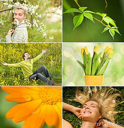Free Spring Collage Royalty Free Stock Image - 7850576