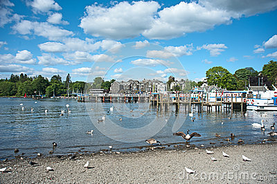 Spring day at Lake Windermere Editorial Photography