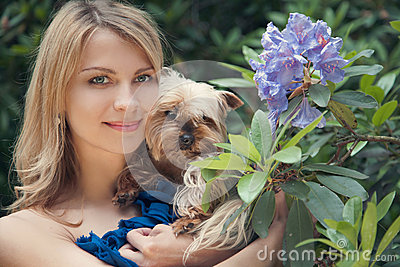 Spring and dog