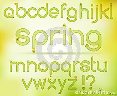 Spring easter alphabet