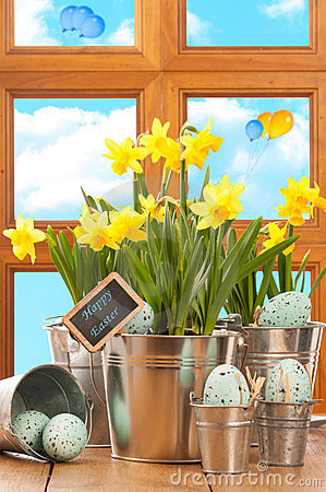 Spring Easter Window