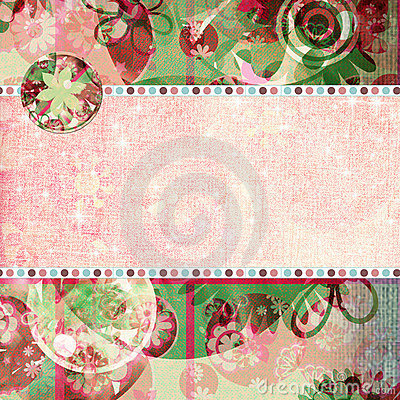 Free Spring Fling Shabby Quick Page Royalty Free Stock Photos - 735828