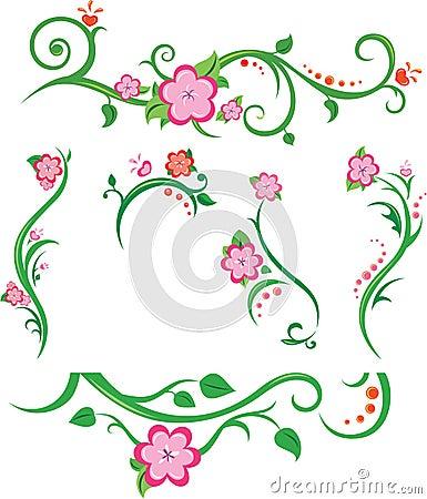 Spring floral elements