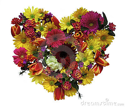 Spring Floral Heart