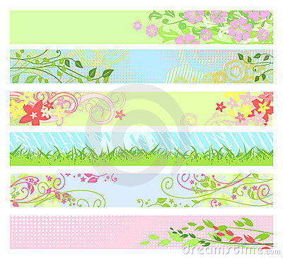 Free Spring Floral Website Banners / Vector Stock Photography - 4155982