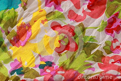 Spring flower fabric background