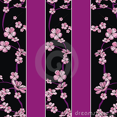 Spring flowering branch pattern