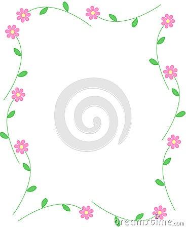 Free Spring Flowers Border Stock Image - 7450101