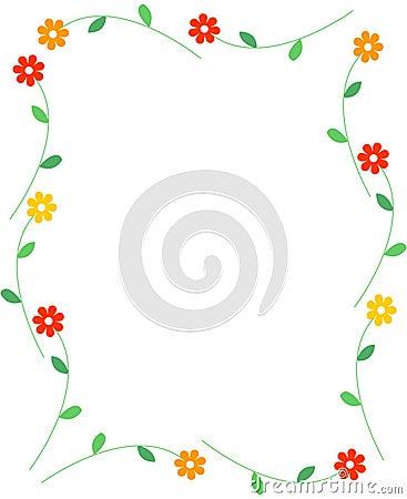 Free Spring Flowers Border Stock Image - 8015981