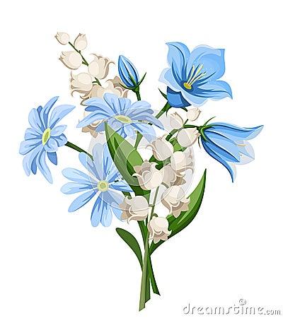 Spring flowers bouquet. Vector illustration. Vector Illustration
