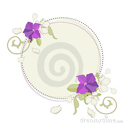 Spring flowers frame.