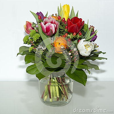 Free Spring Flowers In Vase Stock Photography - 40326782