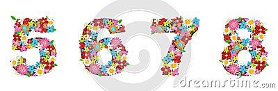 Spring flowers NUMBERS 5678