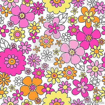Free Spring Flowers Seamless Repeat Pattern Vector Illu Stock Photos - 27039373