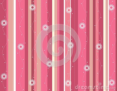 Spring flowers stripped background