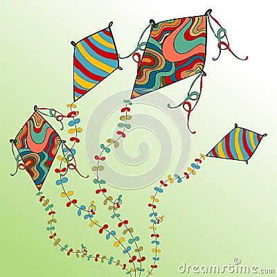 Spring flying kites