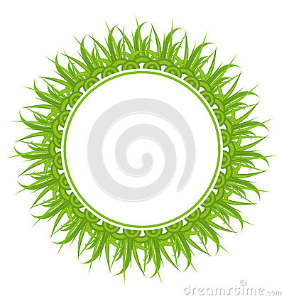 Spring freshness card with grass