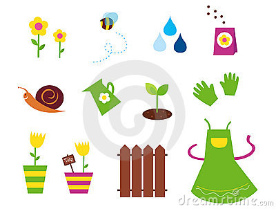 Spring, garden & agriculture symbols and elements