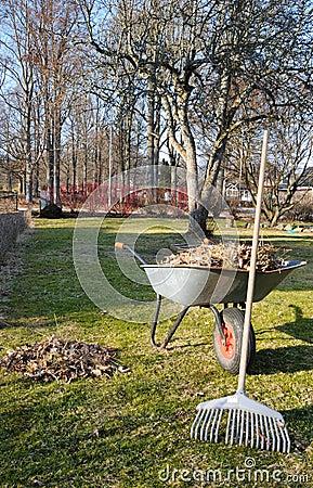 Spring garden cleaning