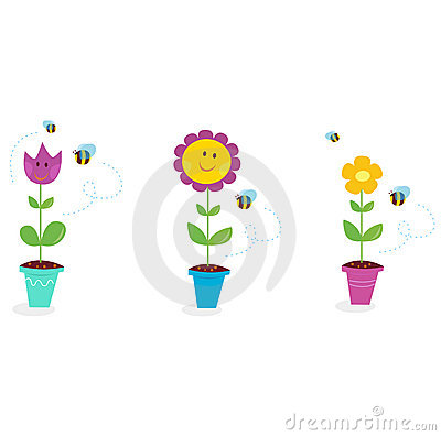 Free Spring Garden Flowers - Tulip, Sunflower And Daisy Stock Image - 13603601