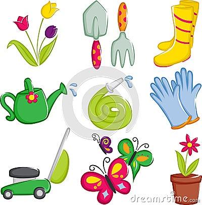 Free Spring Gardening Icons Royalty Free Stock Photos - 22193868