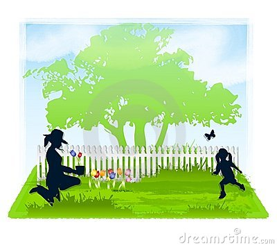 Free Spring Gardening With Mom Royalty Free Stock Image - 4451156