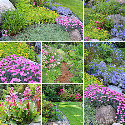 Spring gardens collage