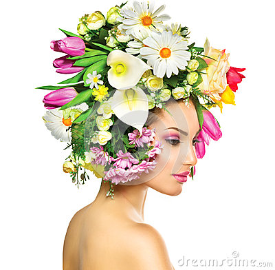 Free Spring Girl With Flowers Stock Photo - 38188880